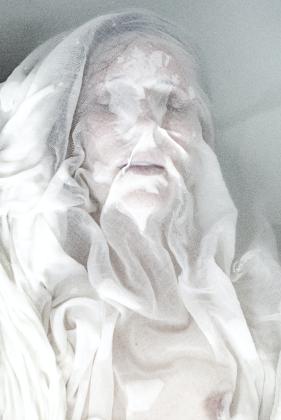 white portrait series