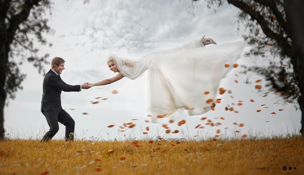 Hochzeitsfoto, kreatives Hochzeitsfoto